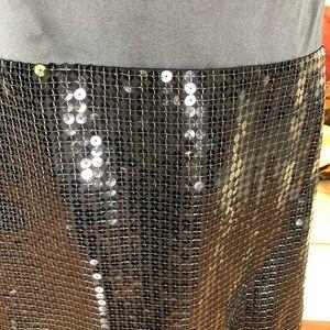 LOFT Dresses - Loft  NEW Womens Black mini sequel dress